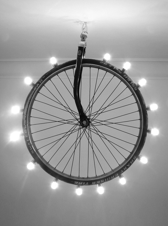 Lighting wheel on Behance #bicycle #design #wheel #furniture #industrial #light