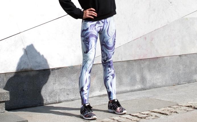 Limited edition leggings by KFKS store #casual #yoga #sport #run #fashion #design #water #blue #surfing #leggings #kfksleggings #moscow #sri
