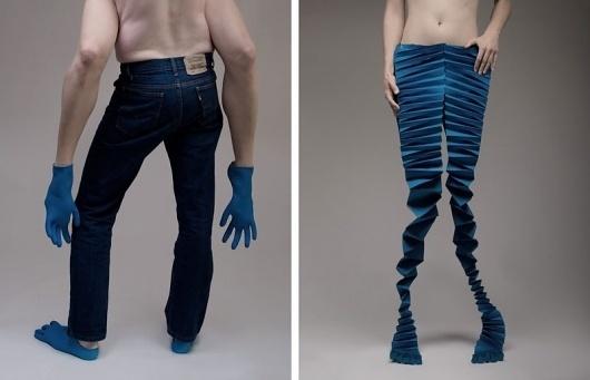 >> #blue #paper #legs