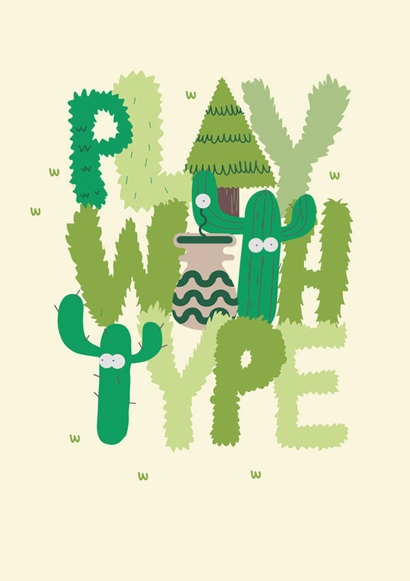 Play with type by Jose Miguel #illustration #typography