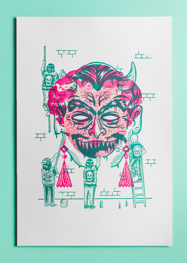 Rituals Malade Pathetics x Eirian Chapman #print #screen #illustration #exhibit #overprint