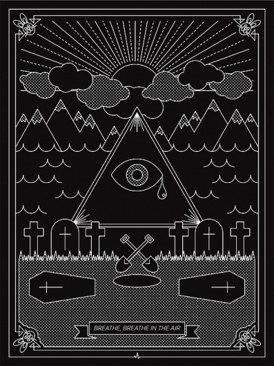 Dark Side of the Moon Posters on the Behance Network #illustration #poster