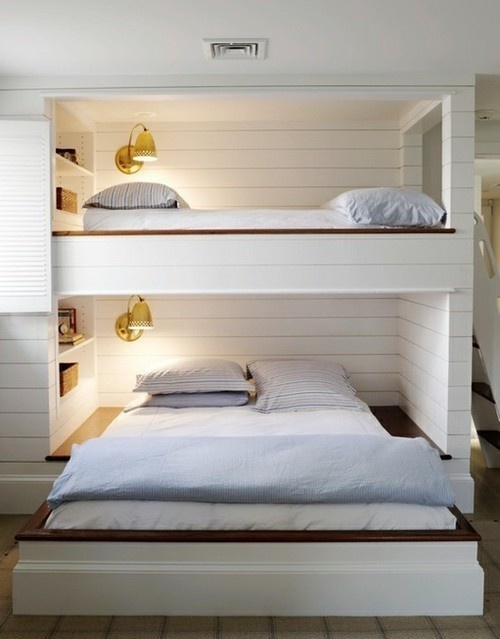 """Image Spark Image tagged """"bedroom"""", """"clever!"""", """"interiors"""" bluesky #white #void #solid #interiors #wood #architecture"""