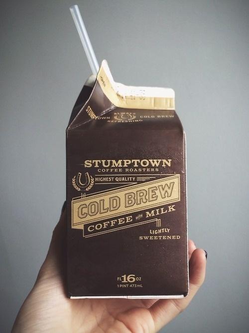 Gold Brew Coffee & Milk #packaging #design #graphic #coffee #dark