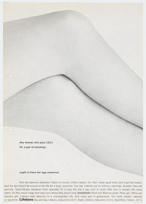 Robert Brownjohn. Artist's Proof for Lifelons Advertisement. 1963