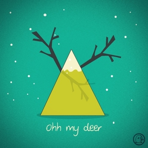 Lonelypeopleart :: Illustration • oh my deer mountain~ ... #deer #mountain #lonelypeopleart