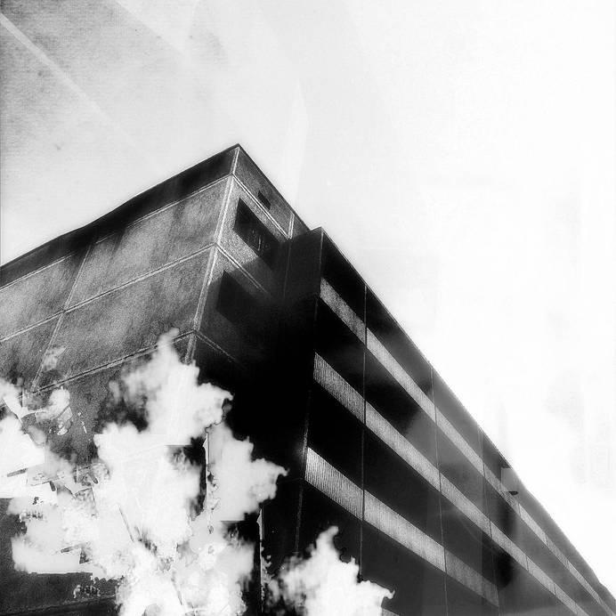 MEGACITY FALLING 02 #white #black #johansson #digital #art #and #daniel