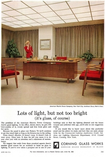 All sizes | Corning Glass Ad 1960 | Flickr - Photo Sharing! #corning #glass #progressive #architecture #advert #1960
