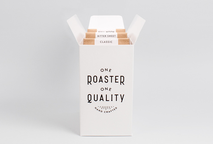 One Roaster One Quality by Plat #packaging #box #typography