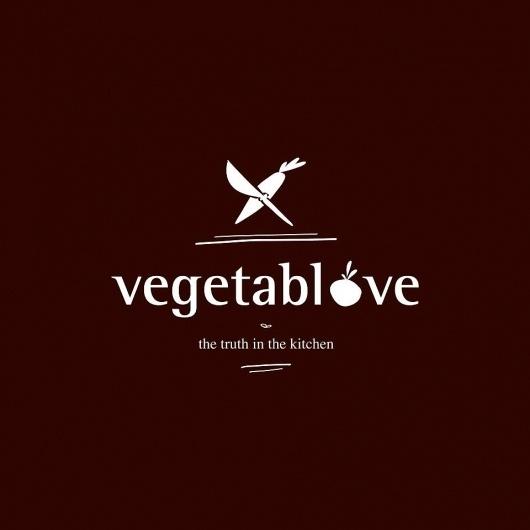 Vegetablove #vegetablove #fruit #illustration #vegetable #logo #knife