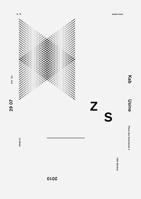 It's Nice That : Cracking set of typographic gig posters from Todeschini Mamie #todeshini #mamie #poster