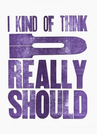 Current Work - The Work of Amanda Morante #letterpress #purple