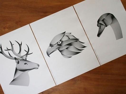 Victor van Gaasbeek • Graphic designer • Illustrator • Line Art #line #illustrations #art #animals