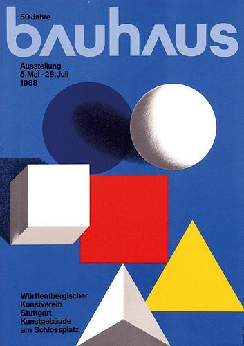 Bauhaus 50 years (1968) Flickrgraphics #bauhaus #flickrgraphics #poster