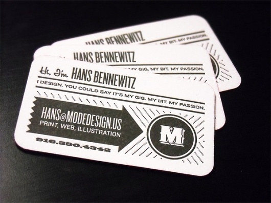 Mode Design Business Card - FPO: For Print Only