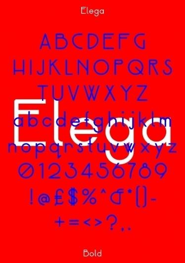 Neal Fletcher — Portfolio #specimen #design #graphic #elega #poster #type #typography