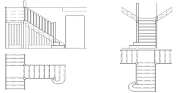 Custom designed timber staircase #diagram #stairs #drawing