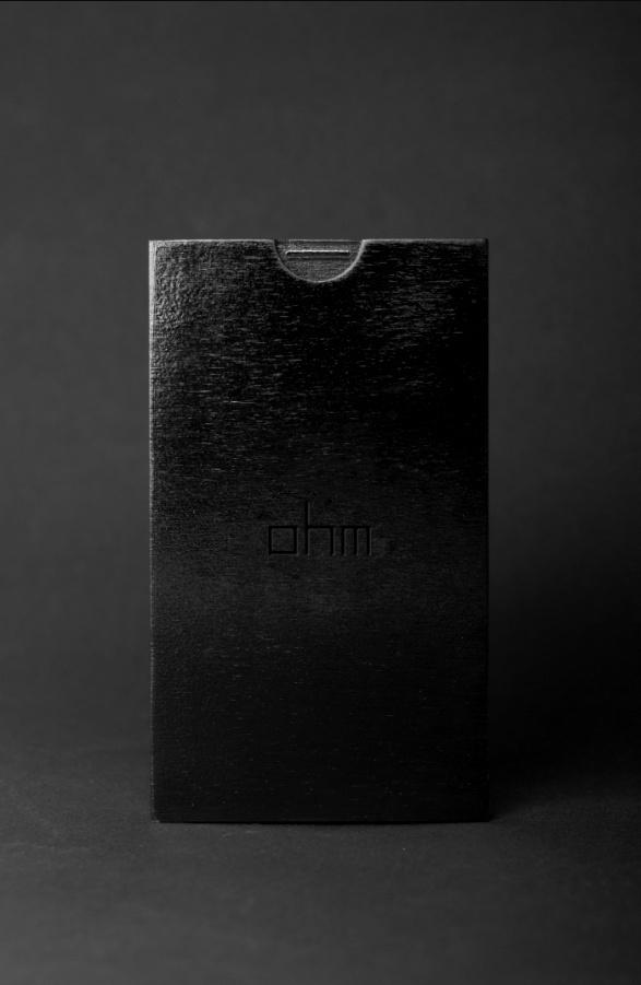 OHM invitation #acrylic #black #glass #wood #store #minimal #fashion #dark