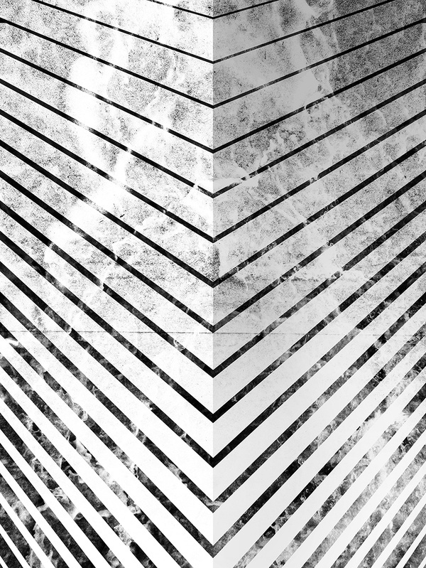 by Jonathan HaringArt Print on Society6.com #corners #pattern #white #lines #black #illustration #angles #and