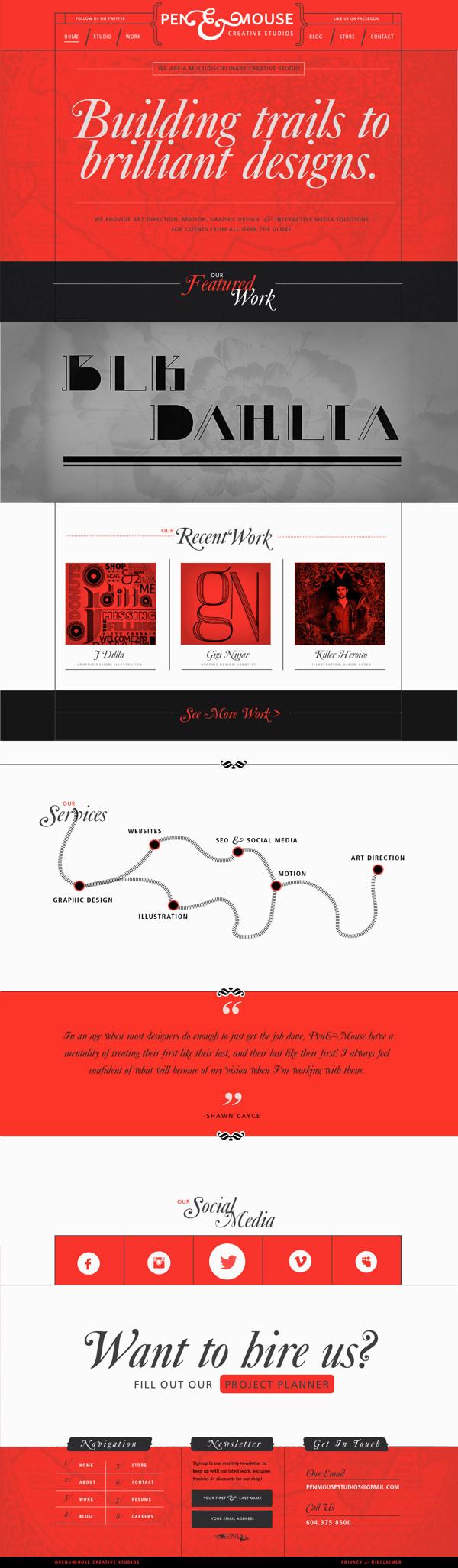 Pen&Mouse - Personal Branding #creative #design #unique #website #layout #web #typography