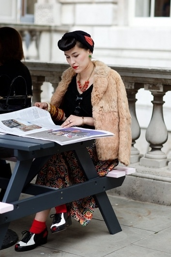 On the Street…..Vintage London, London « The Sartorialist #fashion #vintage