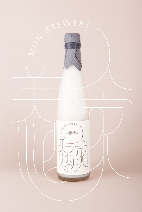 Miin - Korean traditional rice wine #korea #rice #packaging #design #label #south #wine #typography