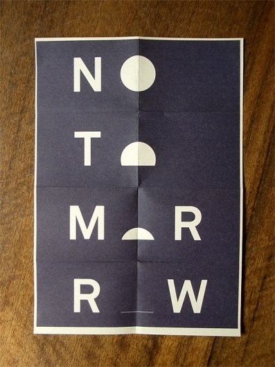FROM THE HILL | No Tomorrow #print #poster