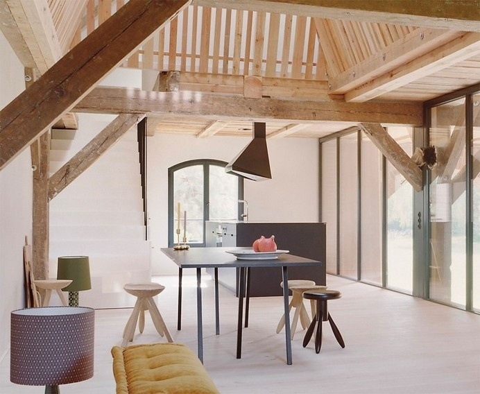 Red Barn by Thomas Kroger converting a barn in an attractive holiday destination - HomeWorldDesign (10) (Custom) #interior #old #house #barn #design #architecture #converting