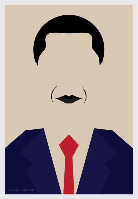 Barack Obama #minimalistic #movies #design #graphic #posters #minimal #poster #minimalist