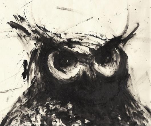 Owl by Neil Hanlon at Coroflot #illustration #hand #drawn