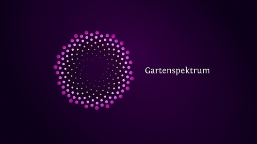 Gartenspektrum on the Behance Network #symmetry #logo #dots