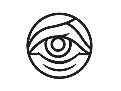 Dribbble - Eye by Tyler Thompson #dribbble #stroke #clean #simple #eye #illustration #logo #tyler #thompson