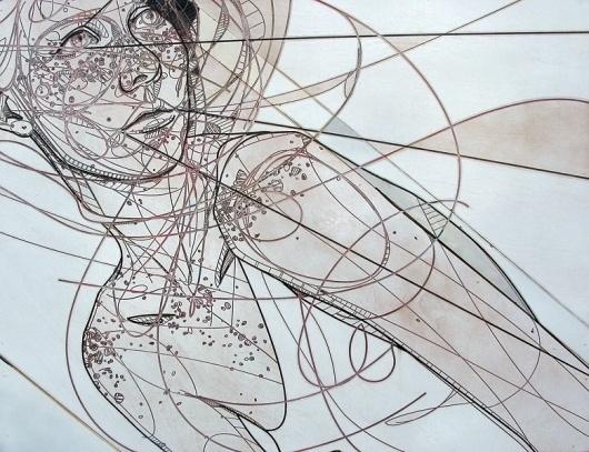 Jason Thielke - Art #woodcut #thielke #girl #jason #etching