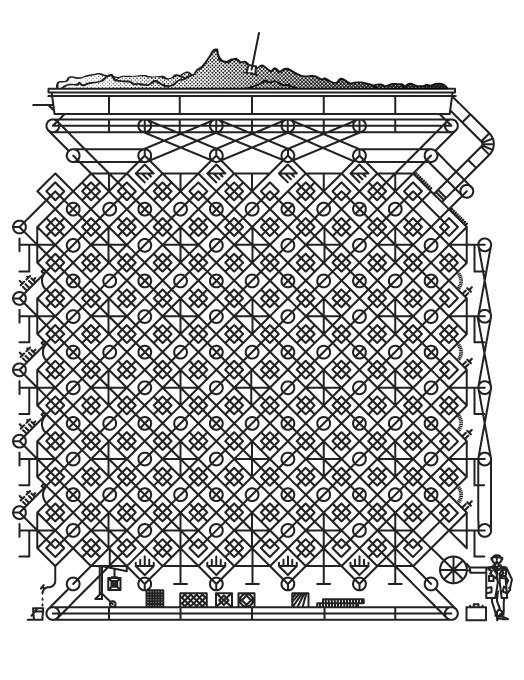 Pattern maker #vector #white #pattern #machine #lines #maker #belt #conveyor #black #texture #dust #gift #and