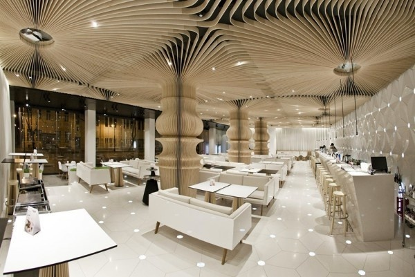 Modern cafe bar area #interior #caf #graffiti #modern #archietecture #cafe #architecture