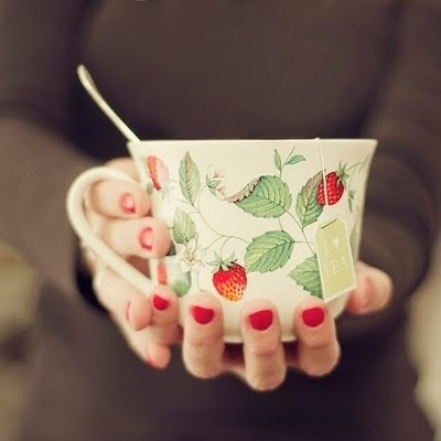 ada #inspiration #nails #cup #strawberries