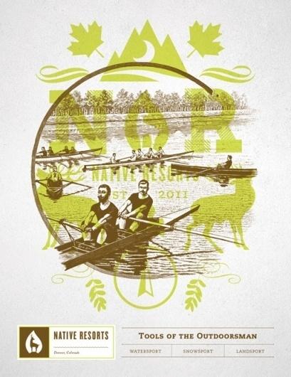 Design Work Life » Student Work: Brian Rau: Native Resorts Identity #water #outdoors #nature #boat #sport #resort