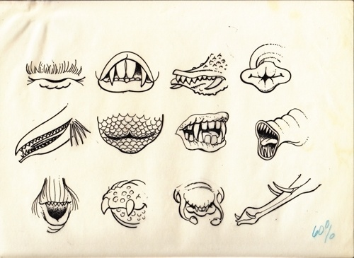 Invisible Creature Speaks » Blog Archive » From The Alfred Paulsen Files, V.3 #teeth #illustration #vintage #monster #drawing