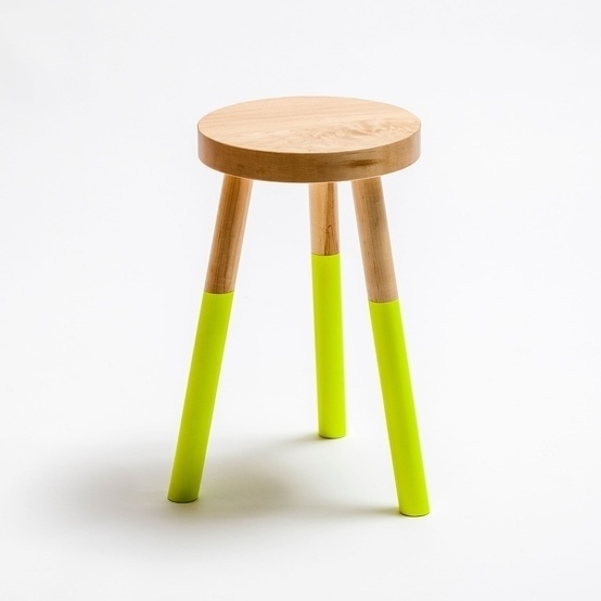 dipped stools (playroom) by lorraine #stool #wood #furniture #dipped #fluro