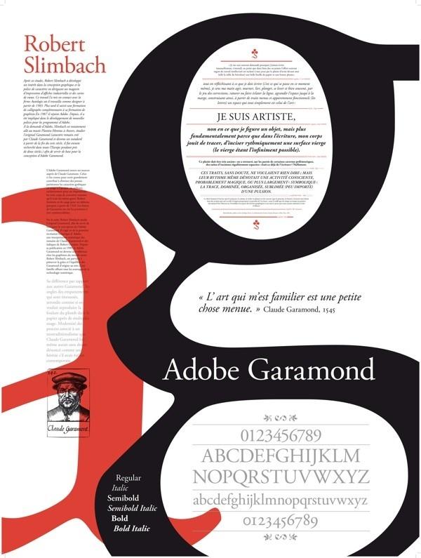 Adobe Garamond, Poster Typography