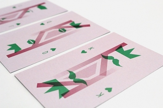 All work and no play ... on the Behance Network #print #design #graphic #playing #ombre #gradient #cards