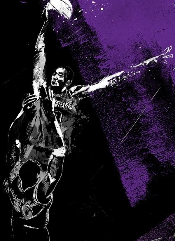 dunks : jtabije.com | jordan tabije + art direction #jtabije #dunk #illustration #lakers #mamba #bryant #wizards #wallace #nba #ben #basketball #kobe