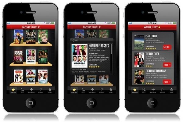 Courtney Goodhart Graphic Designer #movie #design #iphone #organizer #app #movies #shelf