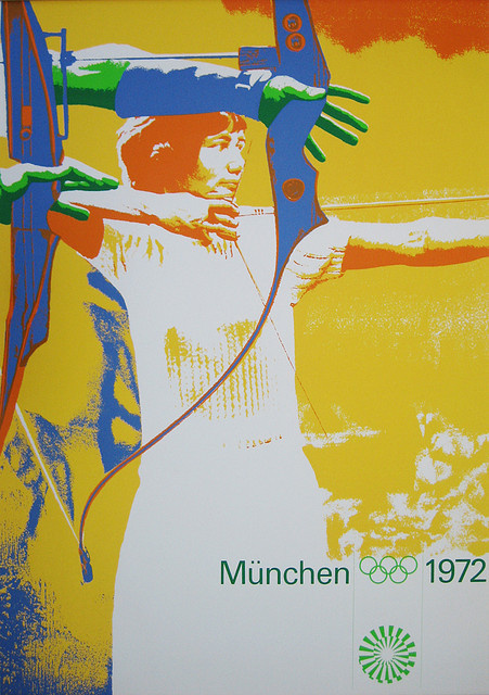 1972 Munich Olympic Games Poster #olympic #poster #1970s #games #munich