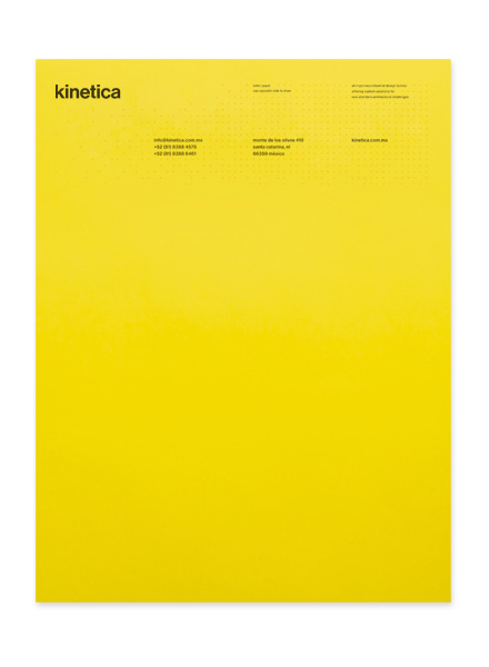 Kinetica — Design by Face. #letter #grid #print #letterhead