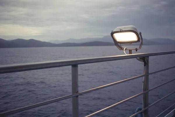 Sea from boat #sea #light #boat