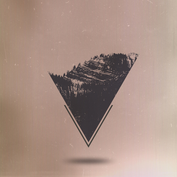 Transcendentalist Art Print #white #black #triangle #art #and #mountains #trees