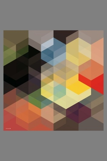 excites | Shop | Simon C Page #pattern #dimension #geometric #grid #poster #tile #overlay #angular