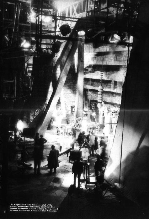 Behind the scenes set shot of Frankenstein #frankenstein #movies #horror