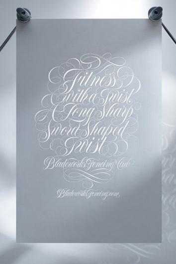 The Fox Is Black #calligraphy #lettering #rethink #tony #dispigna #type